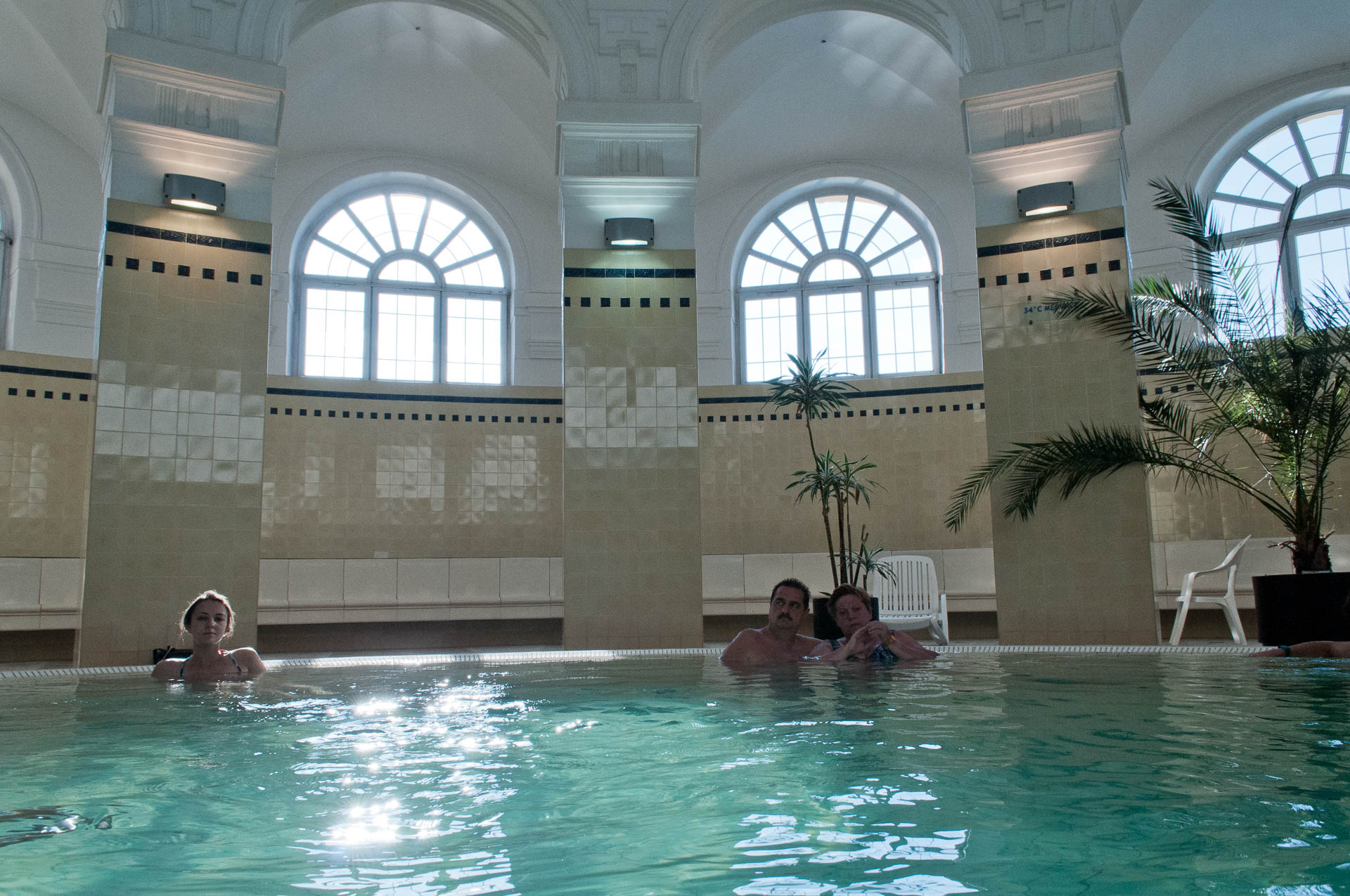 Budapest city elopement and honeymoon - relaxing in thermal spa