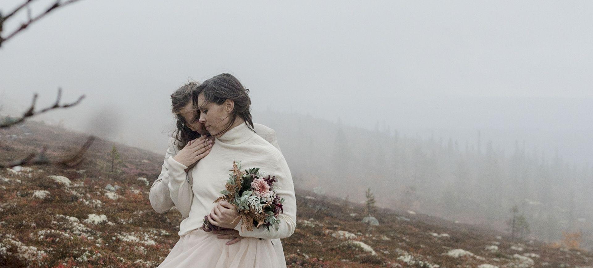 Glamping wedding in sweden - waterfall adventure wedding packages