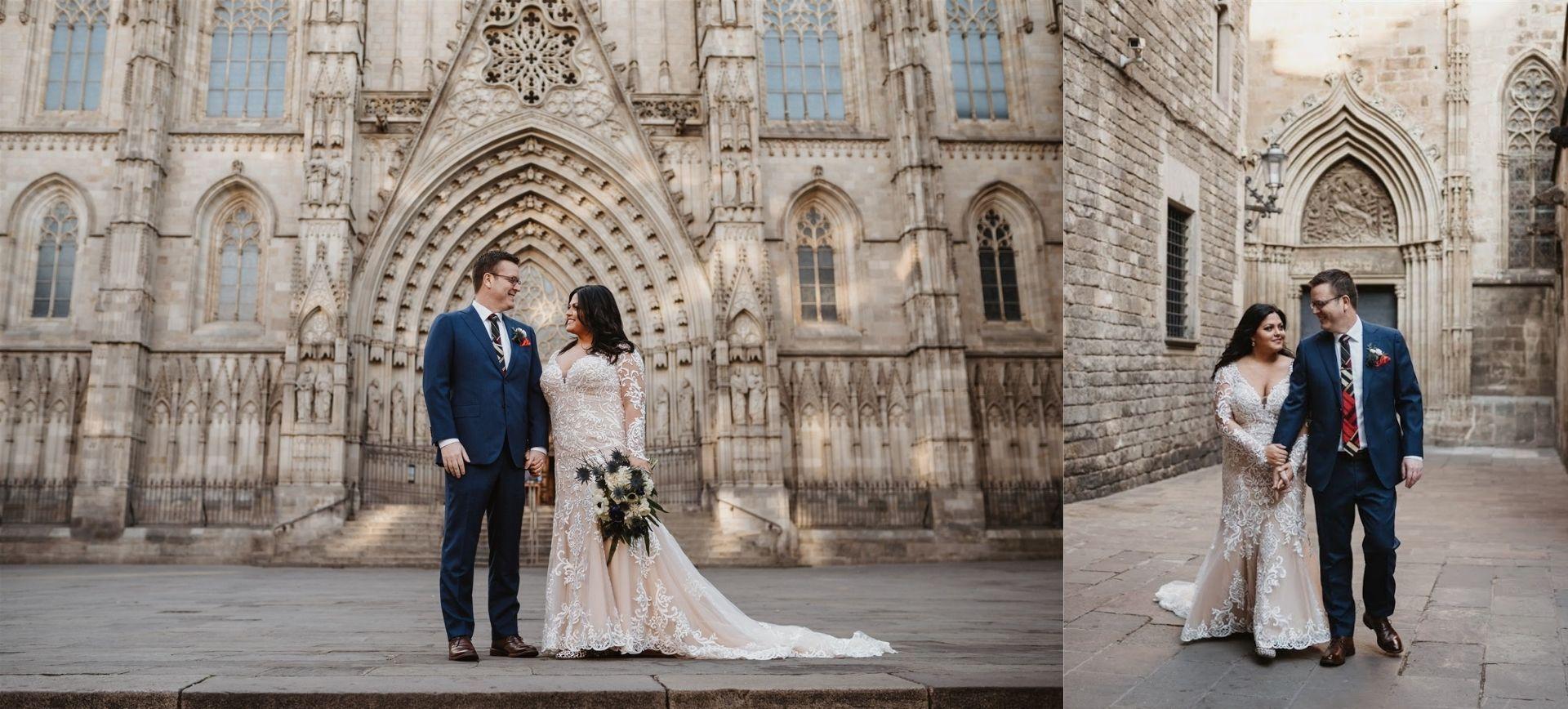 Barcelona Elopement Package - Gothic Quater & Parc de la Ciutadella Wedding